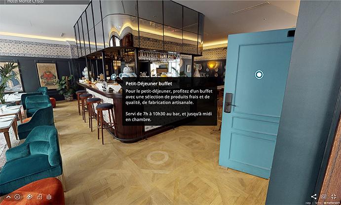 Visite virtuelle en 3D de l'hôtel Monte-Cristo © Webcom Agency