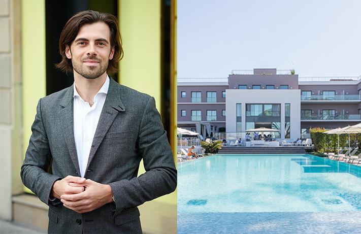 Kevin Machefert. DR / Le Kube Saint Tropez, l'un des 22 hôtels du groupe Machefert, a rouvert dès le 15 mai. © Groupe Machefert